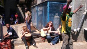 Singing at Soweto Market